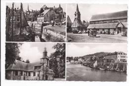 HONFLEUR 1.vieux Bassin Et Lieutenance-2Clocher Ste Catherine- 3 La Chapelle De Grâce- 4 L'Avant-Port. - Honfleur