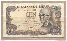 Spagna - Banconota Circolata  Da 100 Pesetas P-152a.3 - 1970 - [ 3] 1936-1975 : Regime Di Franco