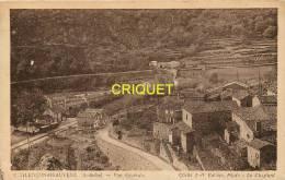 Cpa 07 Chalançon-Beauvene, Vue Générale Et La Gare - Francia
