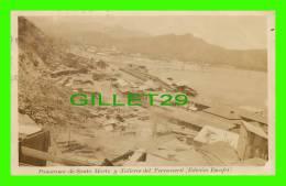 SANTA MARTA, COLOMBIA - PANORAMA DE SANTA MARTA Y TALLERES FERROCARRIL (EDICION ESCOFET) - TRAVEL 1924 - - Colombie