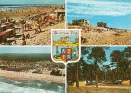 [40] Landes > BISCARROSSE PLAGE - Multi Vues (blason-Grande Plage, Vue Aérienne, Camping) * PRIX FIXE - Biscarrosse