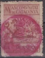 ESPAÑA - MANCOMUNITAT DE CATALUNYA - 1 Pesseta - Viñetas De La Guerra Civil