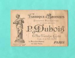 calandrier P.Dubois usine fabrique  bronze  1889  statuettes modeles meilleur march�