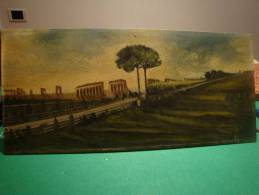 ROME Acquedotto Romano - Remains Of The Waterworks Of The Roman Empire  Oil Paint On Plywood - Oils