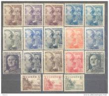 ES1044-3742TCsc.España.Spain.Espagne. CID Y GENERAL  FRANCO 1949-53 ( Ed 1044/61**)sin Charnela. LUJO - Sin Clasificación