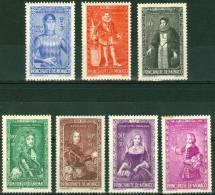 PRINCIPATO DI MONACO, EFFIGI DI PRINCIPI, 1942, FRANCOBOLLI NUOVI (MNH**), Scott B61-B65,B67,B68,   YT 234-238,240,241 - Non Classés