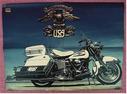 Motorrad Poster :  Harley Davidson  -  Ca. 1982 Aus Der Pop-Rocky - Motorräder