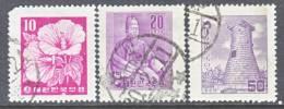 Korea 235-7  Laid Paper    (o)    Wmk. 257  (1)  1956 Issue - Korea, South