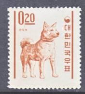 Korea 360   No  Granite Paper  *   1962-3  Issue  FAUNA  DOG - Korea, South