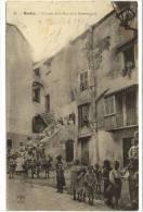 Carte Postale Ancienne Bastia - Un Coin De La Rue De La Fontanicchia - Bastia