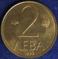 BULGARIA 2 LEVA 1992 #1719A