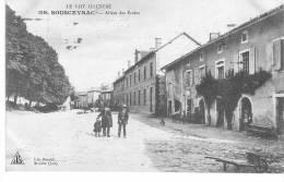 SOUSCEYRAC : L´Allée Des Ecoles  - Carte Animée - CPA Postée En 1913 - Sousceyrac