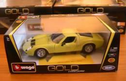 LAMBORGHINI MIURA GREEN 1968 HARD TOP BURAGO #12072 1/18 1:18 BBURAGO GOLD - Burago