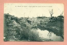 CPA - 62 - LENS - WWI / LES RUINES - 1924 -  ETAT ACTUEL DU CANAL DE LENS A LA DEÛLE - Lens