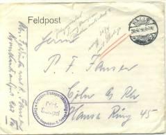 Feldpost 1.WK KRANKEN-TRANSPORTABTEILUNG ETAPPEN-INSPEKTION 8.ARMEE 1916 - Deutschland