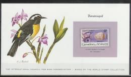 Mkt080kb FAUNA VOGELS BIRDS BANANAQUIT BIRD PRESERVATION VÖGEL AVES OISEAUX GREN. VINCENT CARD WITH STAMP 1978 PF/MNH - Birds