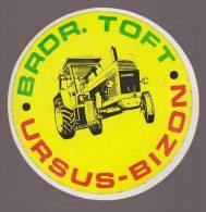 URSUS BIZON BRDR TOFT TRACTEUR - AUTOCOLLANT VINTAGE 239 - Stickers