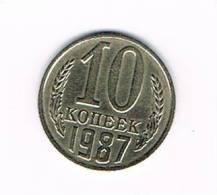 RUSLAND  10 KOPEKS  1987 - Russie