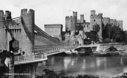"Beatiful  Old Post Card    ""    COWAY  CASTLE  AND  BRIDGE.    "" - Pays De Galles"