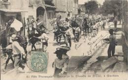 Bouches-du-Rhône- Graveson -Fête Provençale, Course De La Charette De St-Eloi, Rare, Belle Carte. - France
