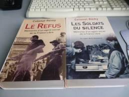 MEMOIRES D´UN AGENT SECRET DE LA FRANCE LIBRE COLONEL REMY  2 Volumes - French