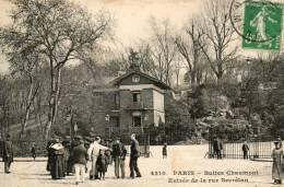PARIS Buttes De Chaumont Entrée De La Rue Secrétan - Arrondissement: 19