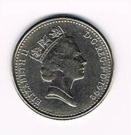 GREAT BRITAIN  10 PENCE   1992 REDUCED SIZE - 10 Pence & 10 New Pence