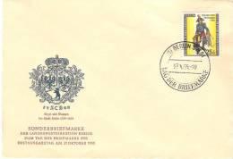 """Berlin 1955 """"Preussischer Feldpostillion"""" Mi 131 FDC (Michel 26 Euro) - Tag Der Briefmarke"""