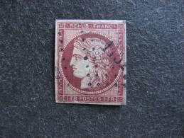 N° 6A, Oblitéré, 2° Choix ( Clair) Mais TB Aspect  . Cote = 3000,00 Euros - 1849-1850 Cérès