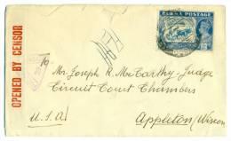 BURMA 3a.6p SG27b / Cover To Appleton WI USA Passed And Opened Censor 29, JUN 41. - Birmania (...-1947)