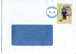 Post Modern Tür 18 Aus Dem Adventskalender 2008 Portogerecht Auf C6-Brief - [7] Federal Republic