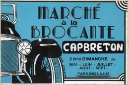 Autocollant Brocante - Marché Capbreton - Stickers