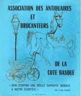 Autocollant Brocante - Association Des Antiquaires Et Brocanteurs De La Cote Basque - Stickers