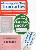 Autocollant Brocante - Divers Trouvailles, Parking Exposant, SNCAO, Quimper, St Gaudens (9) - Stickers