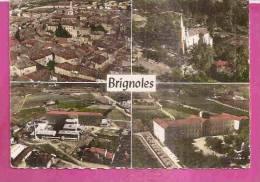 BRIGNOLES   -    * 4 VUES AERIENNES *    -    Editeur : LAPIE De ST. MAUR    N°6.8 - 5.7 - Brignoles