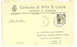 VILLA SANTA LUCIA   03030  PROV. FROSINONE  - ANNO 1980 -  LS   -  TEMA TOPIC COMUNI D´ITALIA - STORIA POSTALE - Affrancature Meccaniche Rosse (EMA)