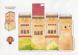Cp Maquette à Découper Tour De Comores à L´alhambra (9.14) - Castles