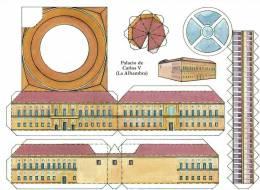 Cp Maquette à Découper PALACIO De CARLOS V à L´alhambra (9.15) - Châteaux