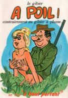 Cp Carte Humoristique Sur La Chasse, Le Gibier à Poil (9.18) - Humour