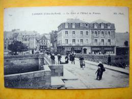 Cpa 22 LANNION  Anime     Le Pont Et L Hotel De France   Pub Petit Parisien - Lannion