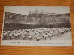 CPA TOURCOING SACRE COEUR 1926 FETE DE GYMNASTIQUE ANIME ENFANTS UNIFORME - Tourcoing