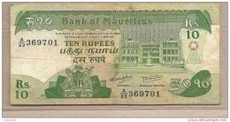 Mauritius -  Banconota Circolata Da 10 Rupie - Mauritius