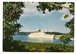 """CPSM S/S """" ANTILLES """" Cie GIE TRANSATLANTIQUE NAVIRE BATEAU PAQUEBOT SHIP - Dampfer"""