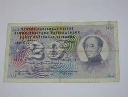 20 Francs SUISSE 1955 - Banque Nationale Suisse - Schweizerische Nationalbank - Switzerland