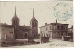 Cpa  Fresnes En Woevre  L'église Et L'école Des Garçons - Other Municipalities