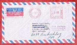 Luftpostbrief, Freistempel Service Of Science Karachi, Nach Frankfurt, Nebenstempel- Und Weiterleitung 1971? (36808) - Pakistan