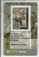 ITALIA REPUBBLICA ITALY  2009 LA NAZIONE DI FIRENZE PERFETTO ANCORA  NELLA SUA CONFEZIONE - 6. 1946-.. Repubblica