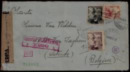 """SUPERBE CENSURA """" VIGO """" PONTEVEDRA (24 Nov) > MADRID (3dec.) > OSTENDE  - Geoffnet - 26 Nov. 1941 !! - 1931-Aujourd'hui: II. République - ....Juan Carlos I"""