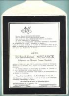 Sint-Agatha-Berchem / Welle / Doodsbrief: De Heer Richard-René MEGANCK (1892-1961) - Religion & Esotericism