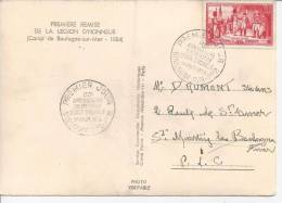 PAS DE CALAIS -1954 -  150éme  ANNIVERSAIRE  DE LA REMISE DE LA LEGION D´ HONNEUR  - - FDC